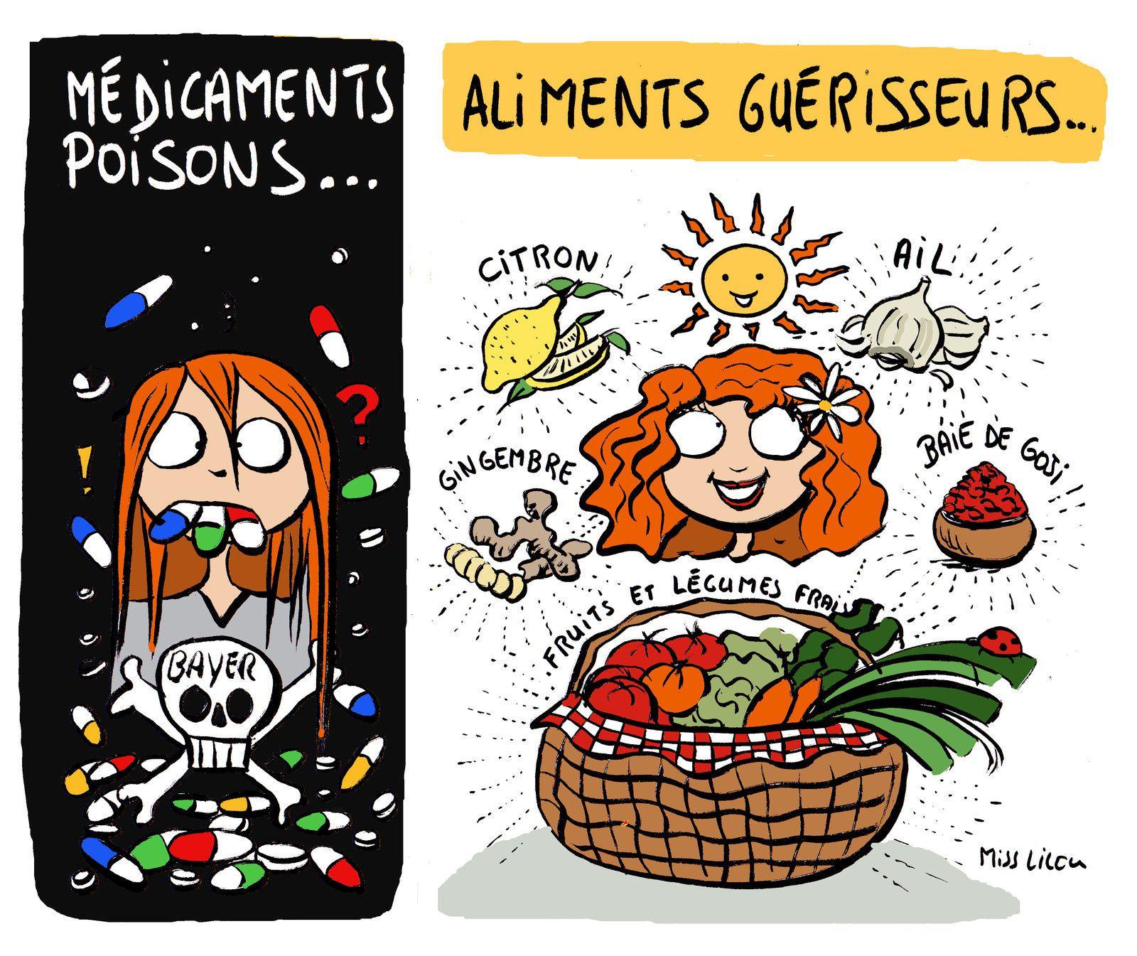 Médicaments poisons, aliments guérisseurs