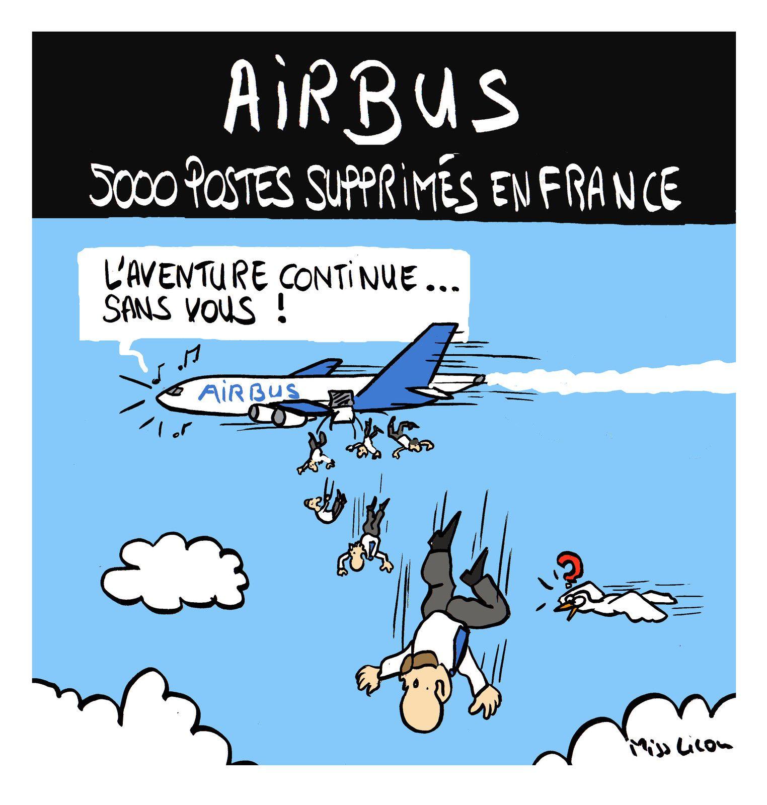 """""""AIRBUS : 5000 postes supprimés en France"""""""