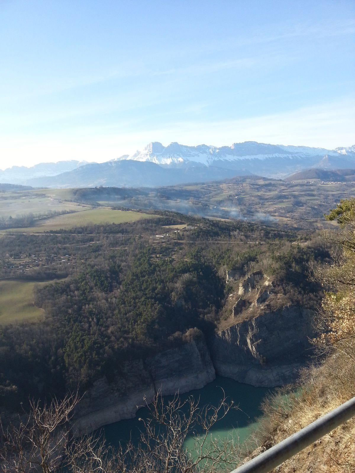 Vu sur le Mont Aiguille