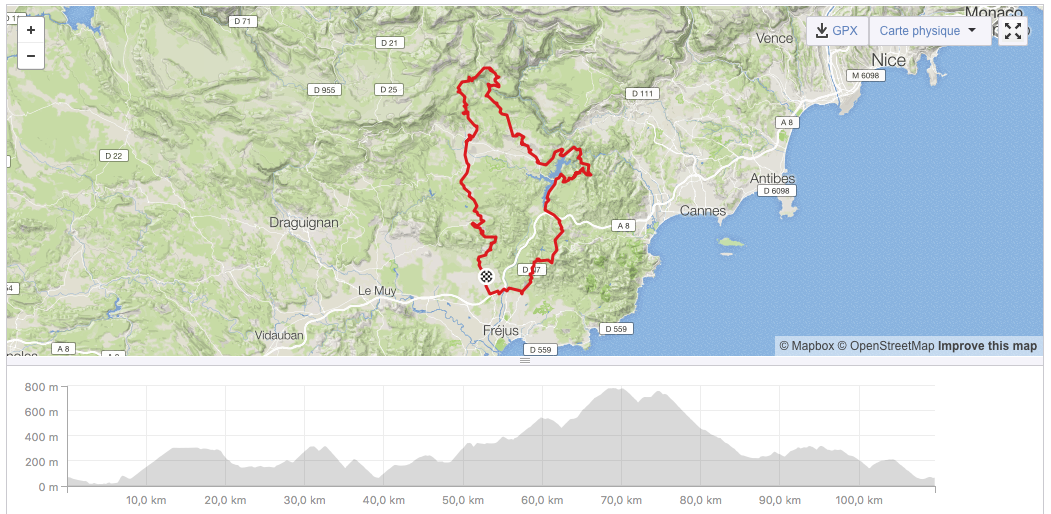 STAGE 2 : direction St Cassien, Mons et Fayence