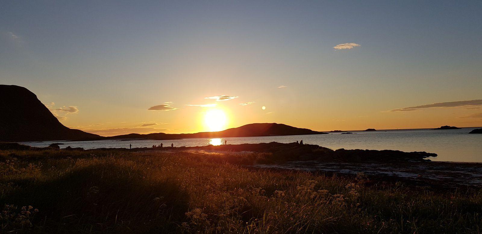 Hier soir et ce matin : deuxième soleil de minuit