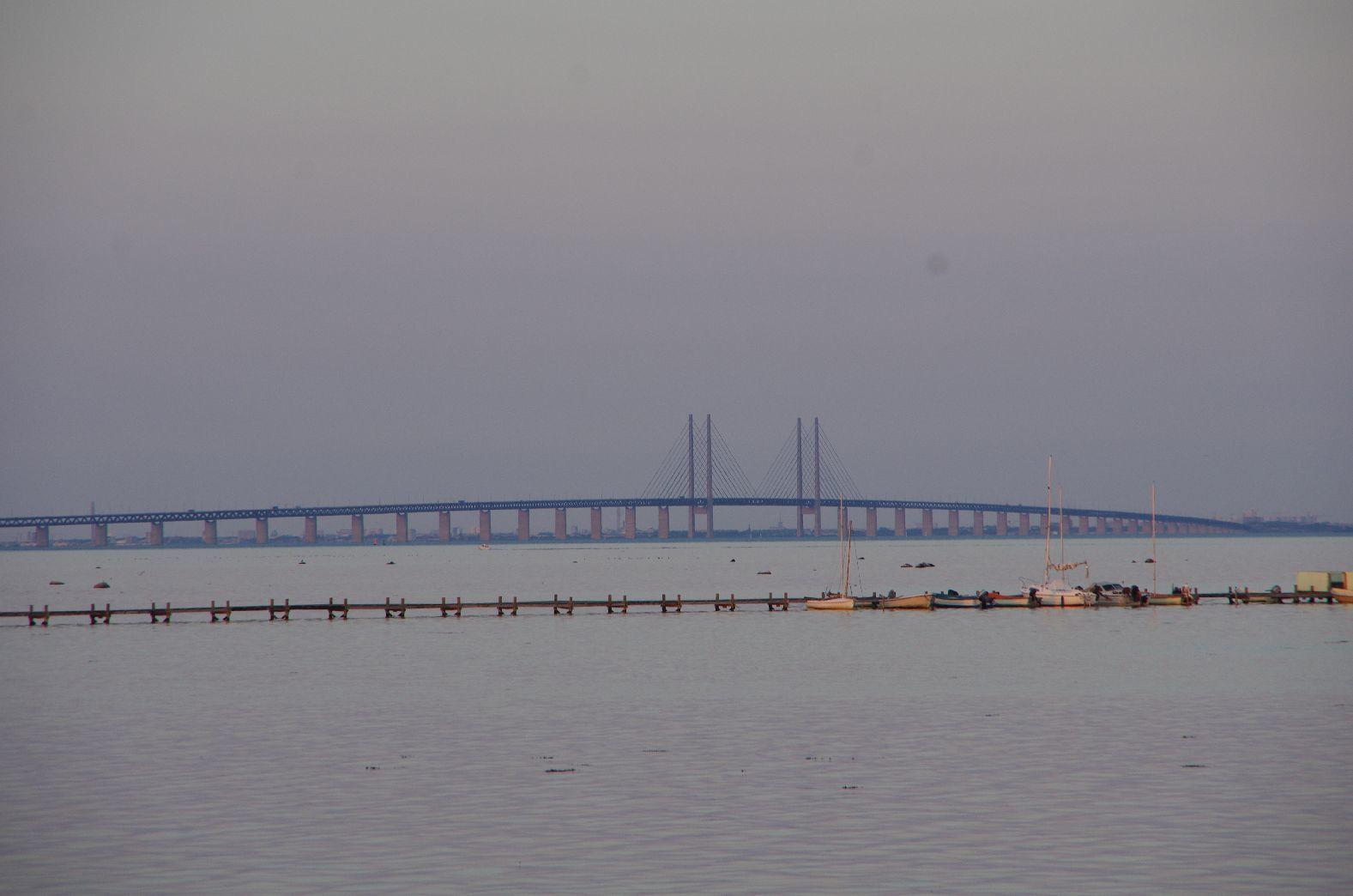 Le pont de près de 30 km sur la mer qui relie Copenhague à la Suède.