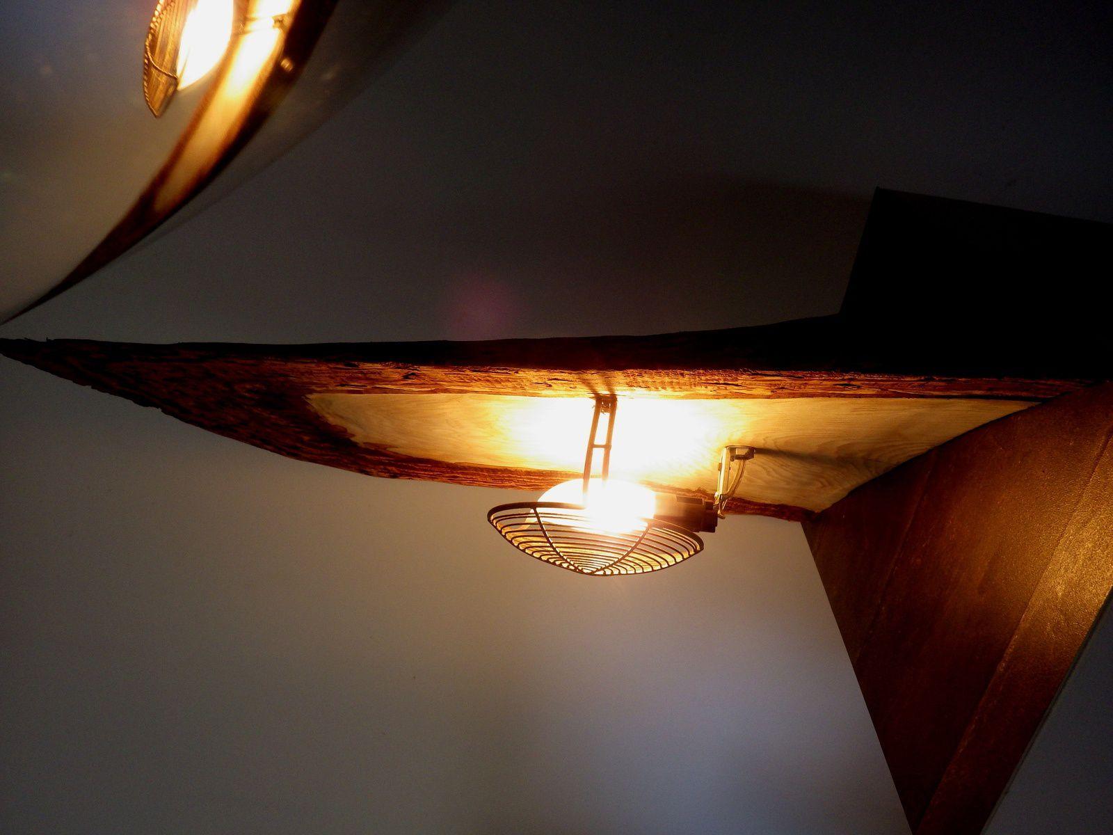 Lampe ambiance écorce