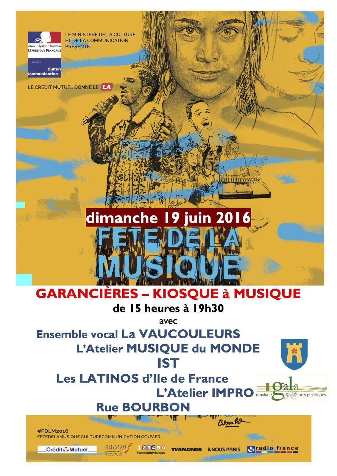 Programme Fête de la musique à Garancières : 19 juin