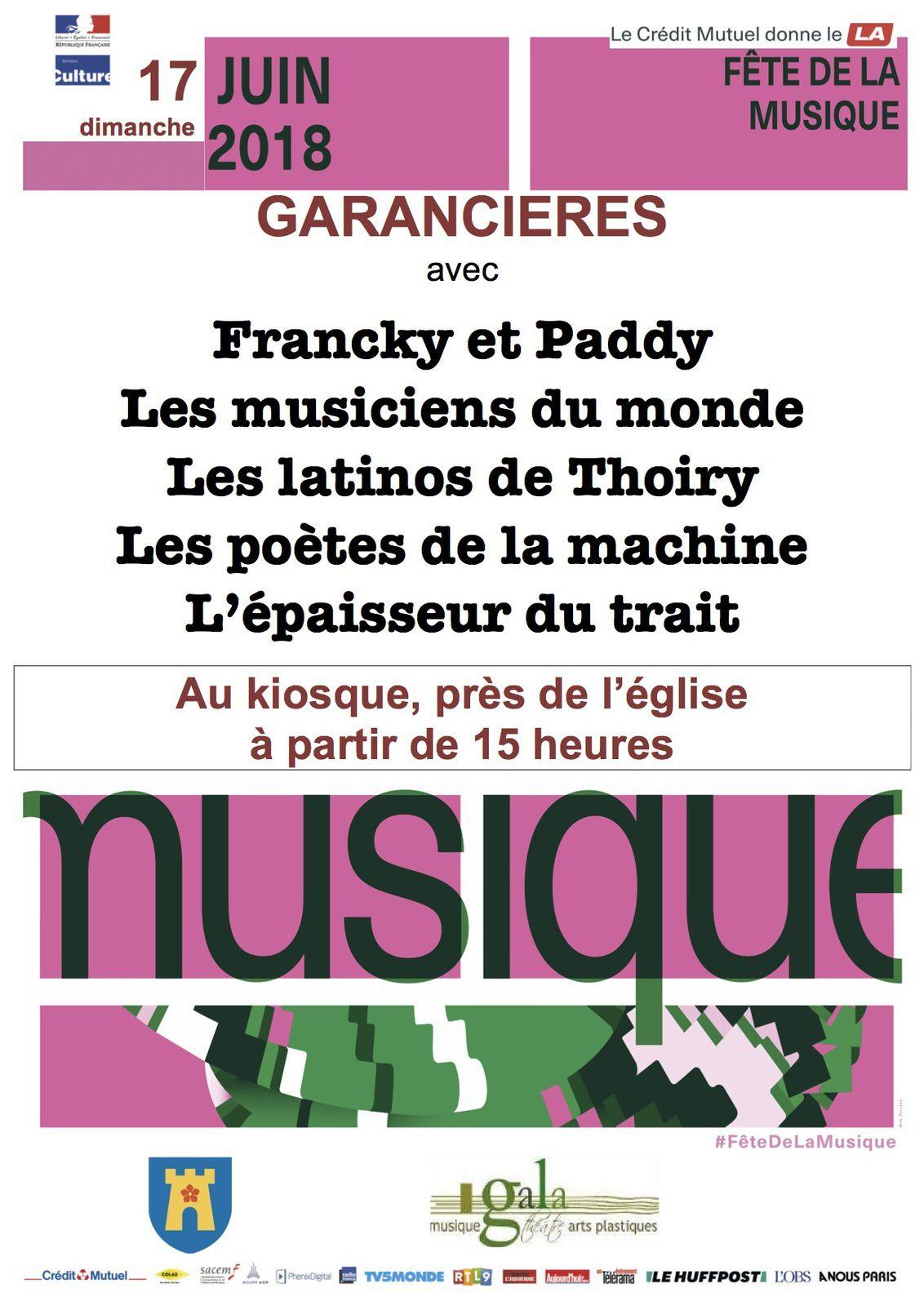 La Fête de la musique à Garancières, c'est dimanche 17 juin
