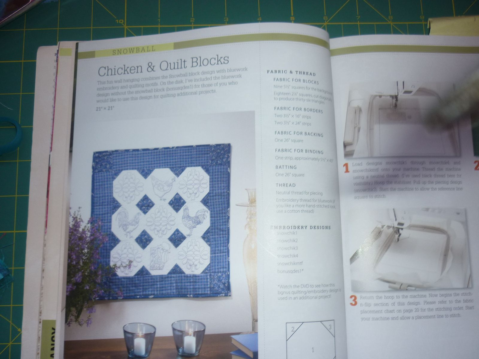 CHICKEN & QUILT BLOCKS