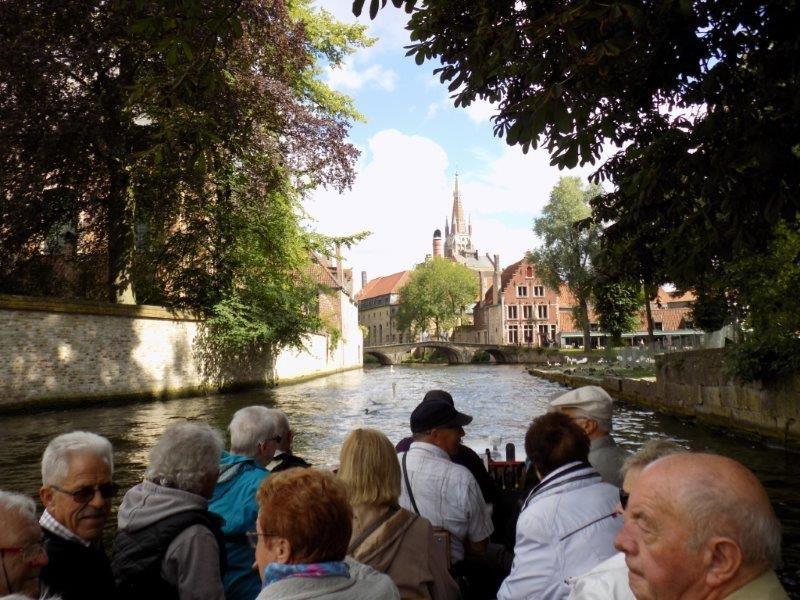 Un petit tour en bateau dans la ville de Brugge !