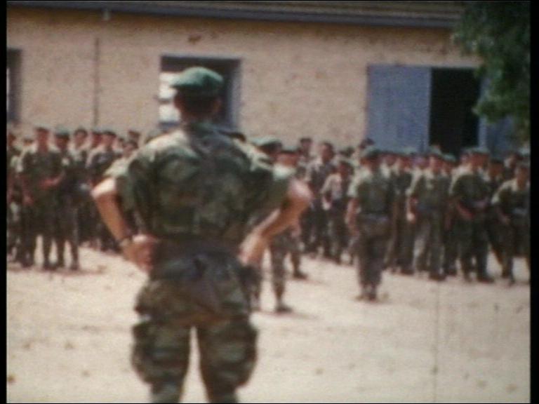 La compagnie au rassemblement avant le départ en OP. 1959 Kef Drari.
