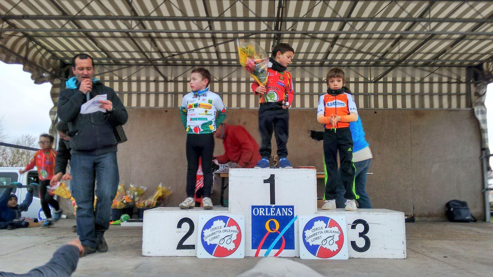 Cyclo-cross école de vélo de l'Ile Charlemagne (45) : victoire de Mattis et du Dreux CC en relais