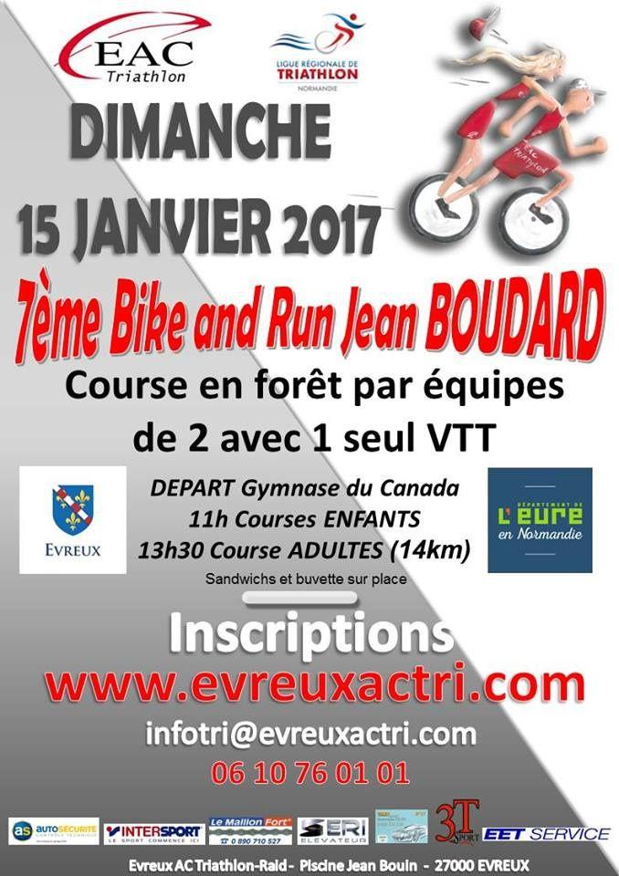 Bike and Run d'Evreux (27) le 15/01/2017 en hommage à Jean Boudard
