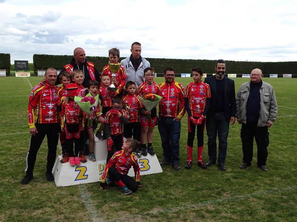 Les compteurs du Dreux CC 2016/2017 avec 34 victoires et 14 prix d'équipes