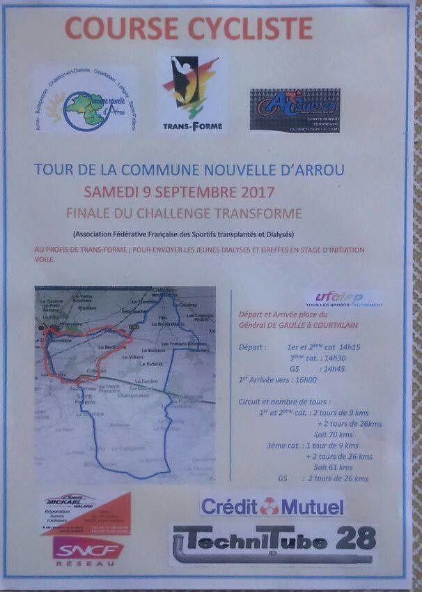 Final du challenge UFOLEP TRANSFORME le samedi 9 septembre à Courtalain (28)
