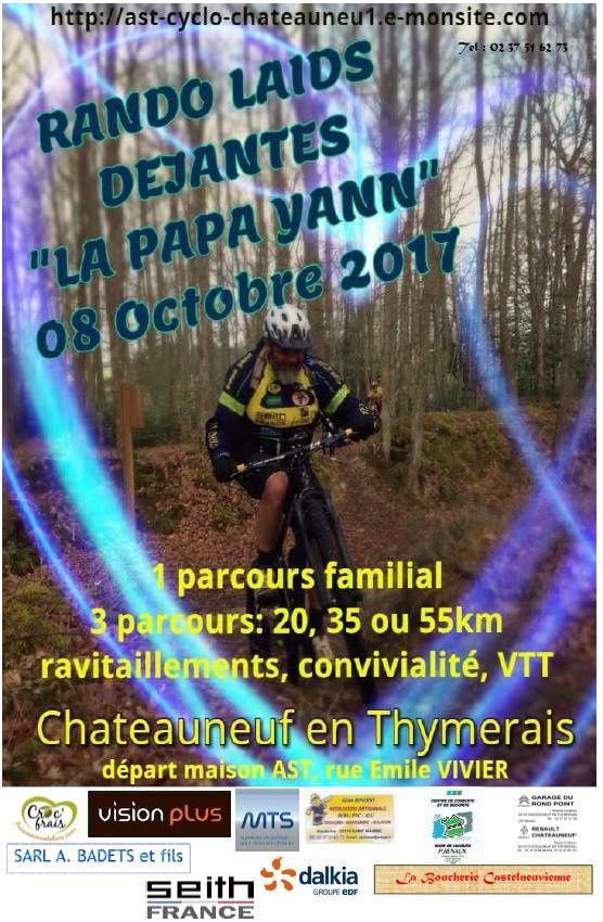 La Papa Yann le dimanche 8 octobre 2017 à Chateauneuf en Thymerais (28) : 5ème rando VTT Laids Déjantés