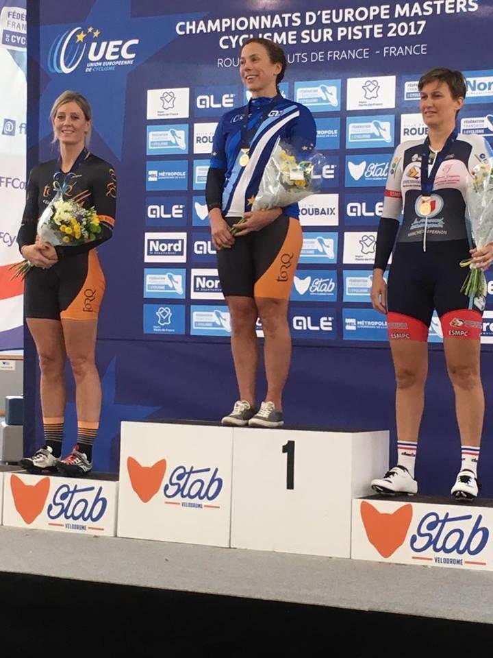 Angélique Ferdinand (ES Maintenon Pierres) médaille de Bronze au 500 M DA au championnat d'Europe masters