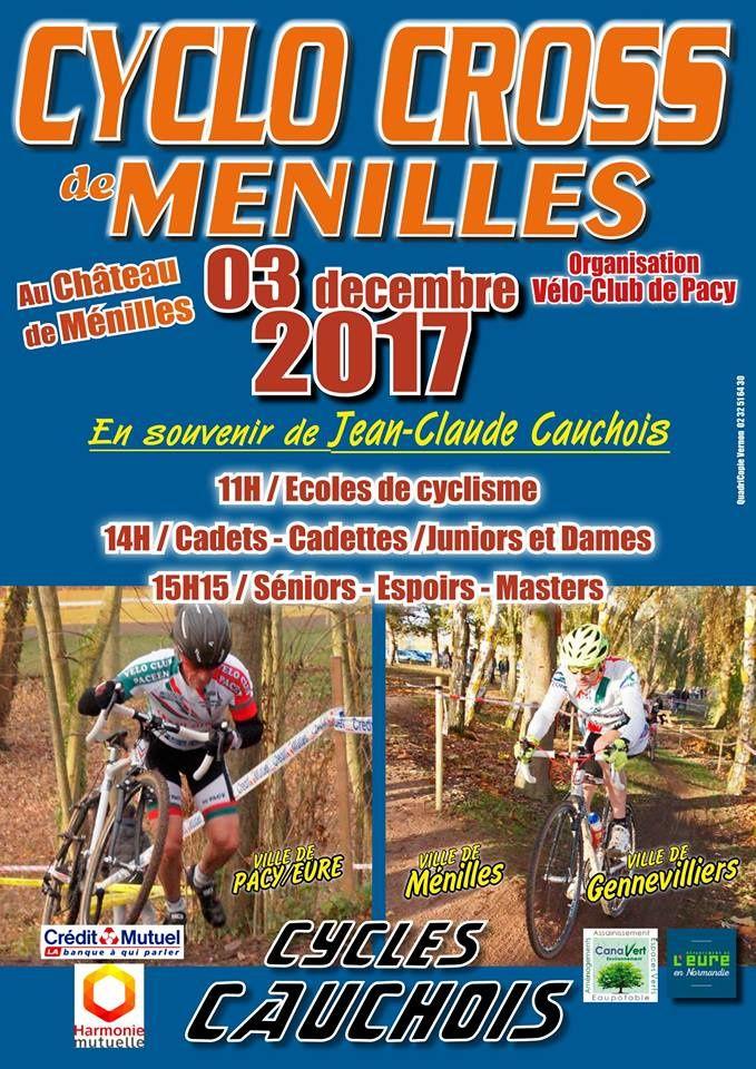 Cyclo-cross de Ménilles le 3 décembre 2017