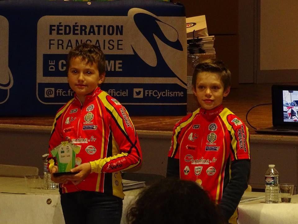 En pupilles au TDJC 28 2016-2017, 1er Maxime Asse et 4ème Artur Poirier
