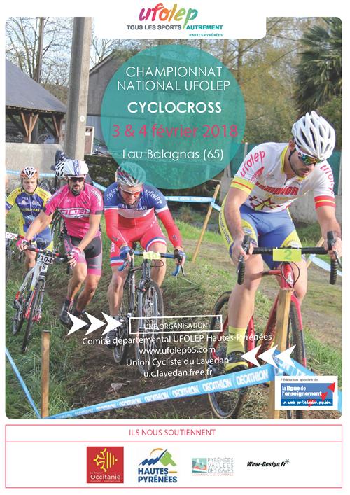 Le dossier complet sur le National UFOLEP de cyclo-cross des 3 et 4 février 2018 à Lau-Balagnas (65)