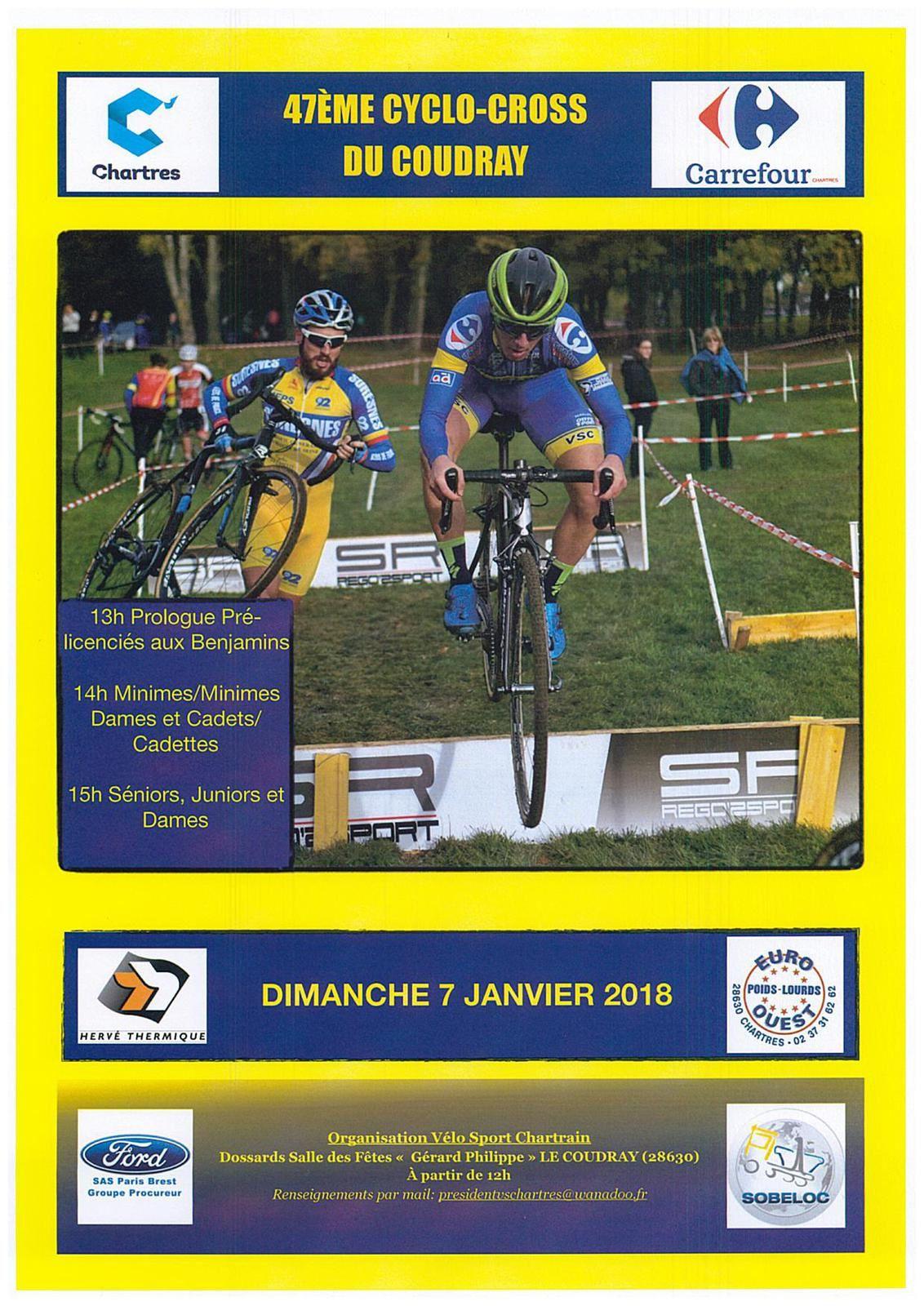 Les partants du 47ème cyclo-cross Du Coudray (28)