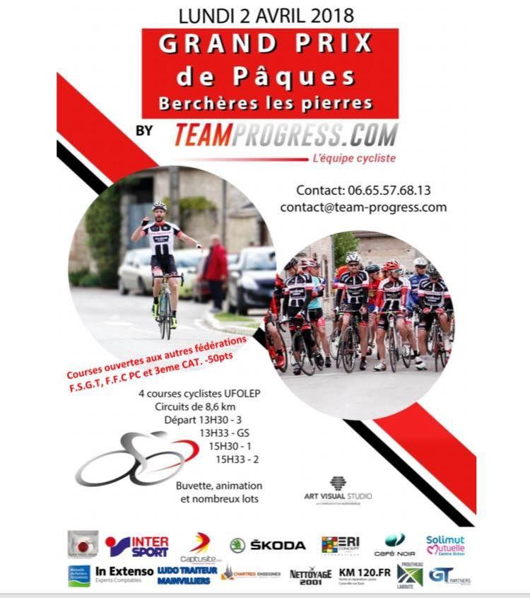 Affiche de la course UFOLEP du lundi 2 avril de Berchères Les Pierres (28)
