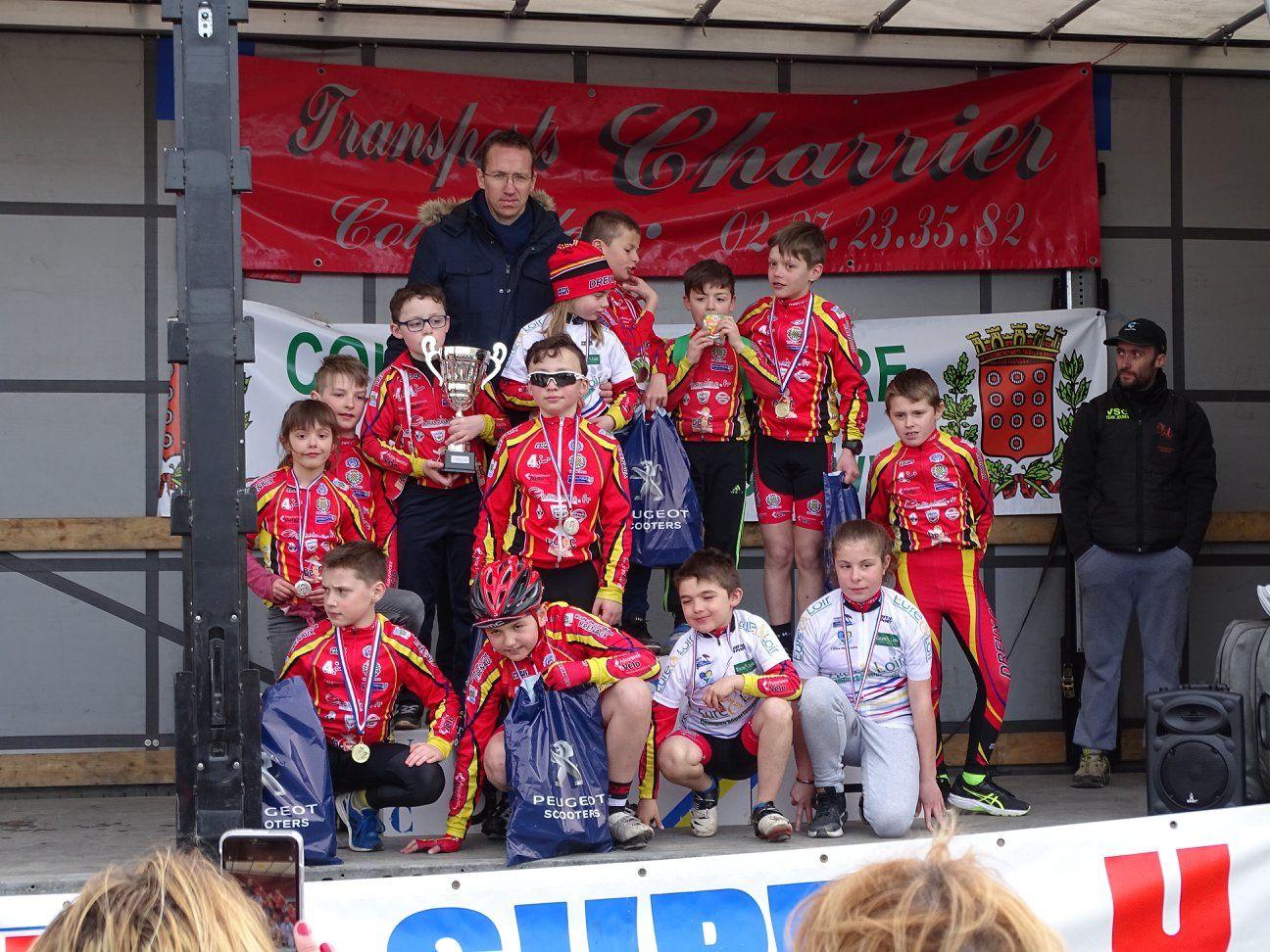 Les résultats complets des championnats d'Eure et Loir des écoles de cyclisme à Courville sur Eure (28)