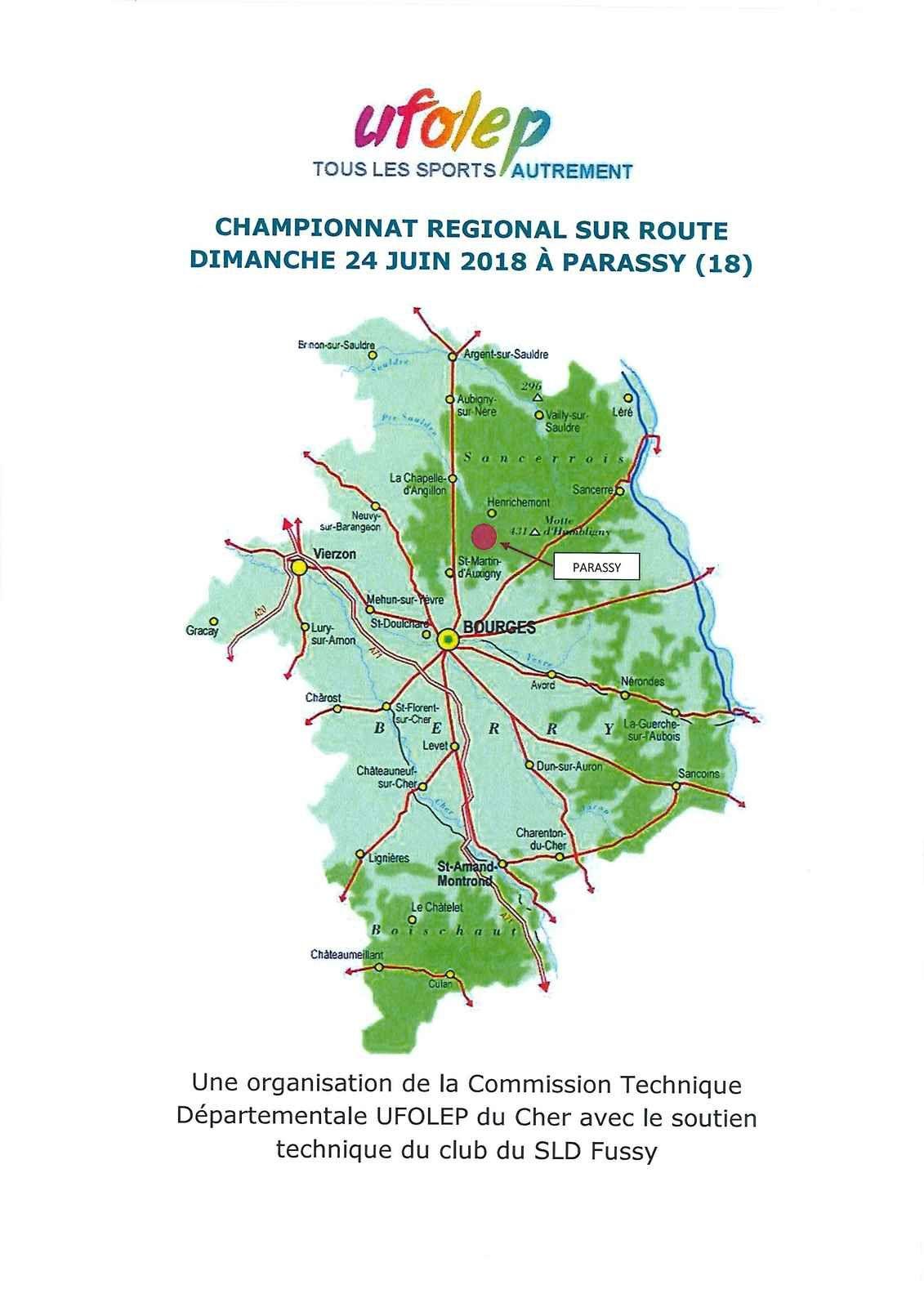 Championnat régional UFOLEP le dimanche 24 juin à Parassy (18)