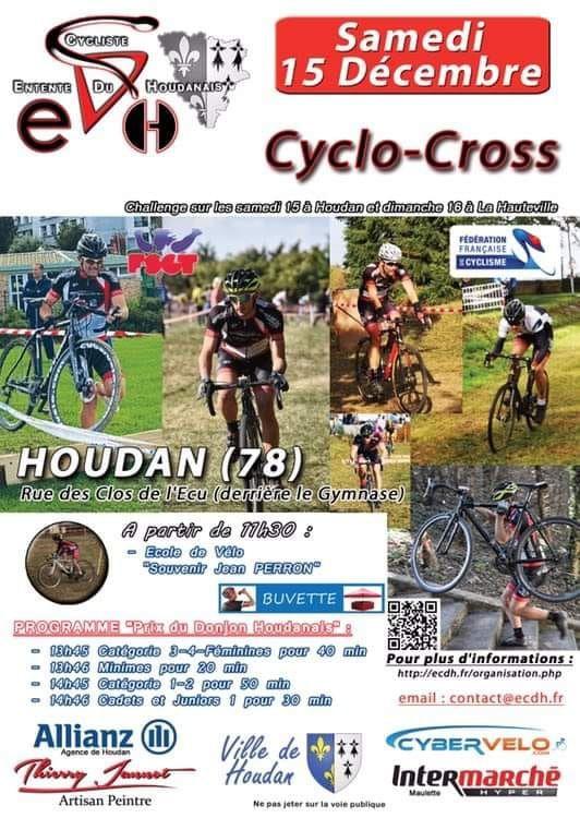 Cyclo-cross FSGT de La Hauteville (78) le 16 décembre 2018