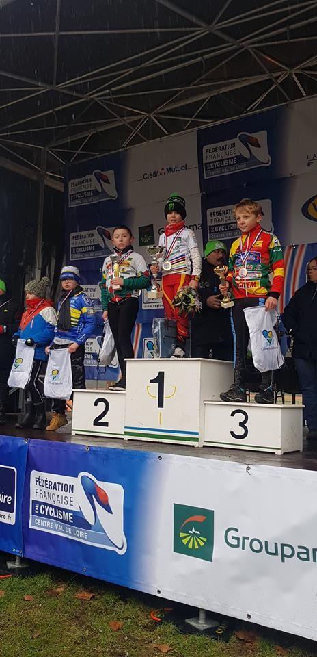 Les résultats complets des championnats régionaux de cyclo-cross des écoles de cyclisme à Bridoré (37)