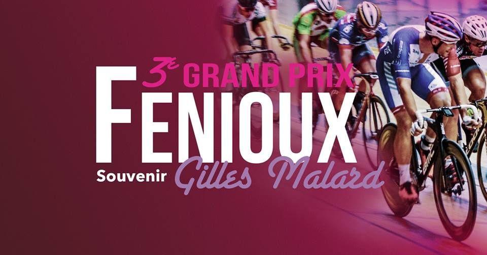 3ème Grand prix Fenioux - Souvenir Gilles Malard - au vélodrome de Bourges (18) le samedi 22 décembre avec des Euréliens