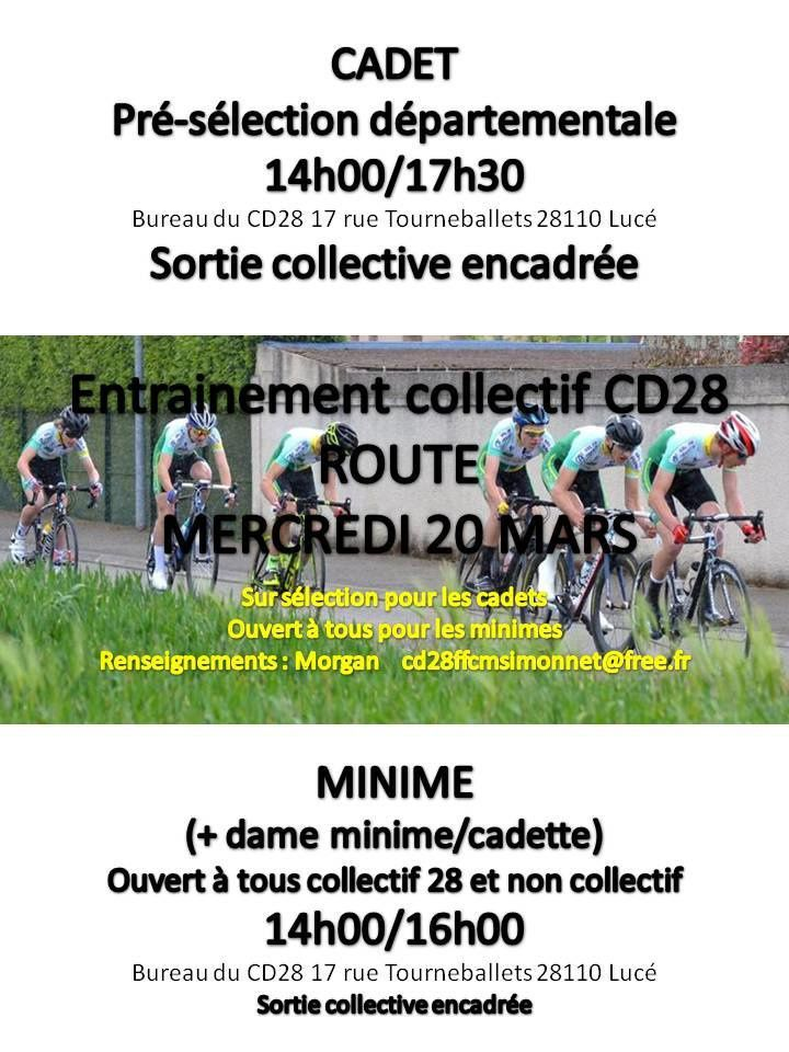Affiche : source comtpe Facebook du CD28 de cyclisme