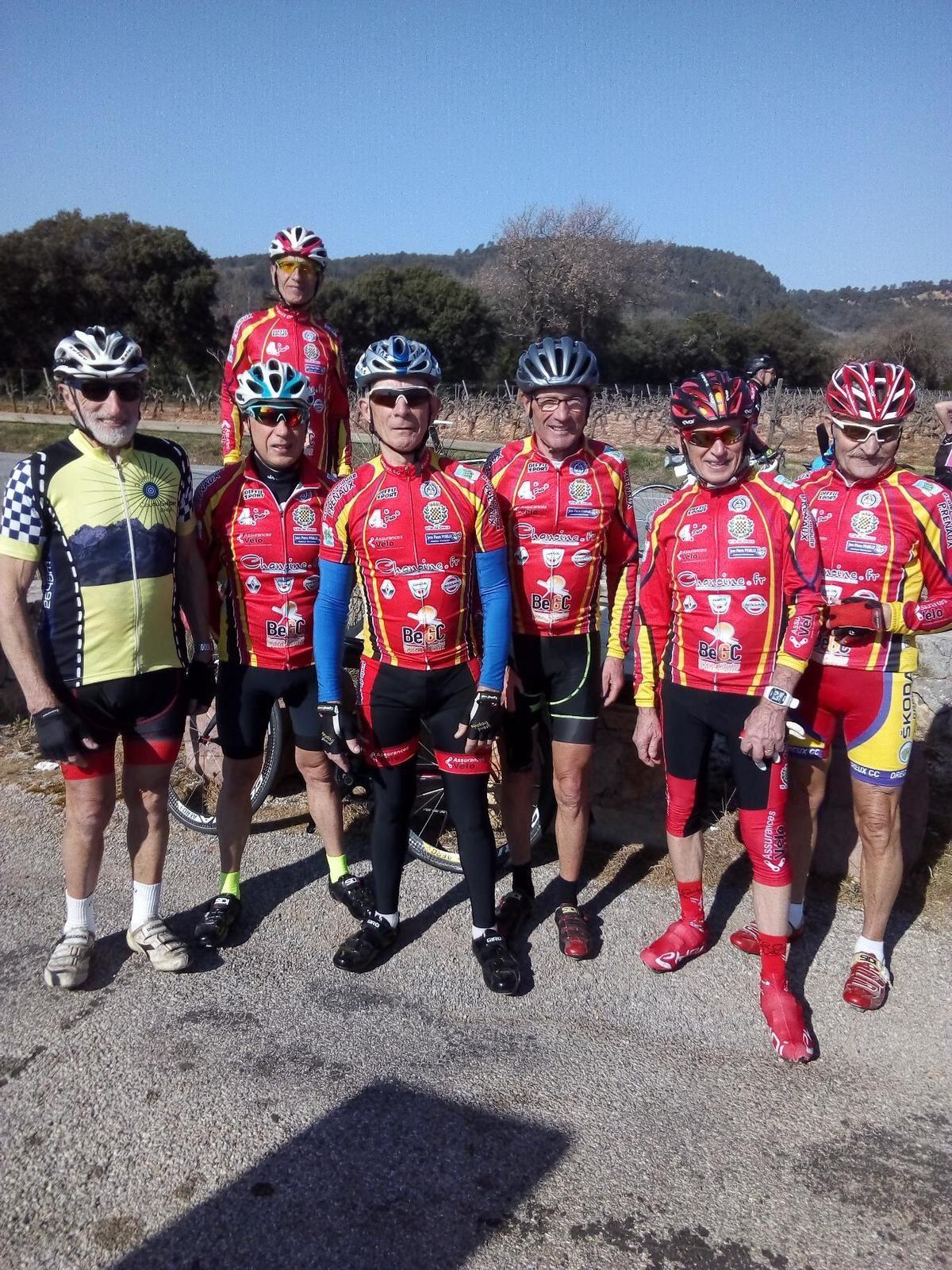 Des licenciés du Dreux CC en stage à Roquebrune sur Argens (83)