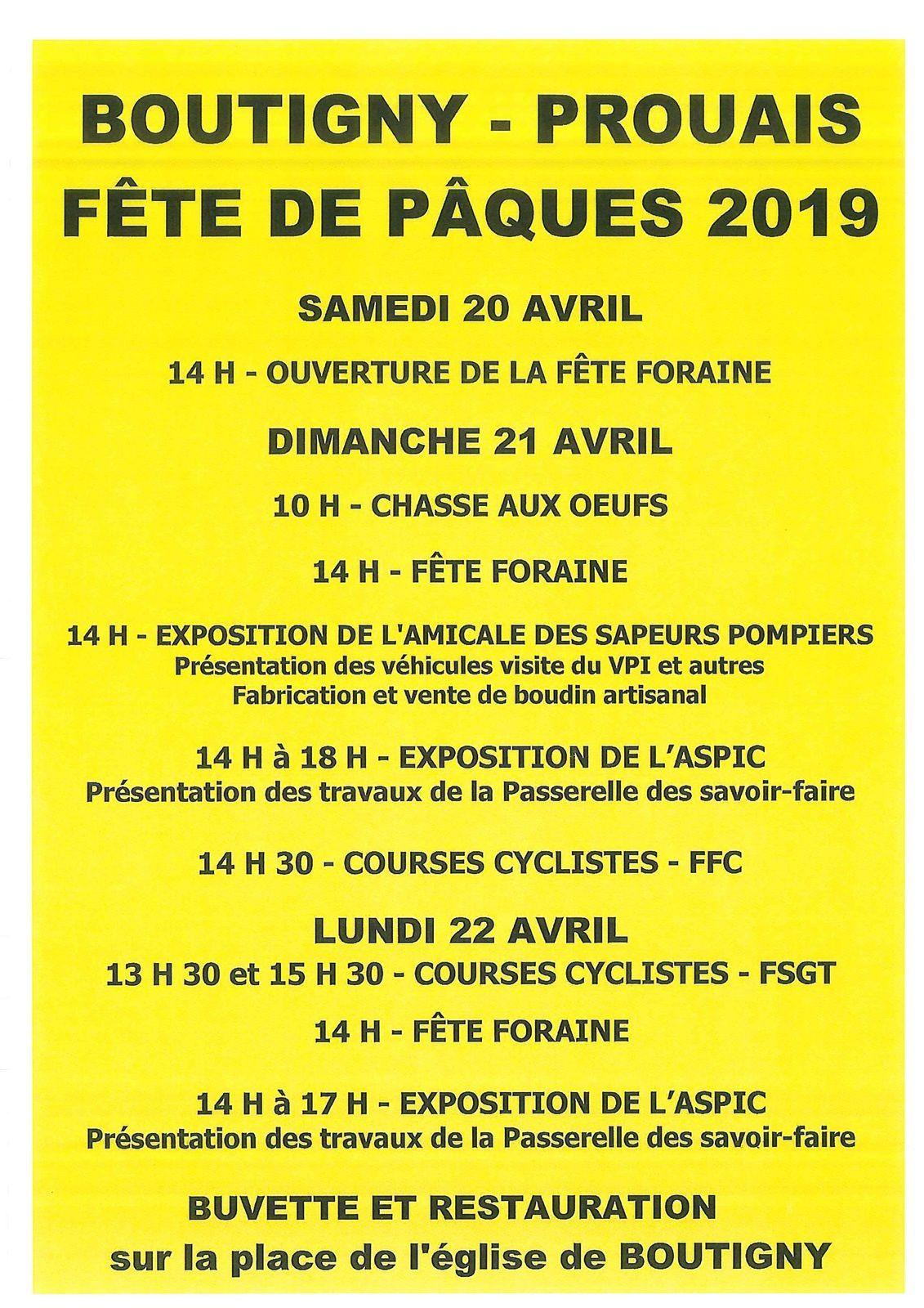 Grand Prix de Pâques à Boutigny sur Opton (28) ce dimanche 21 avril 2019