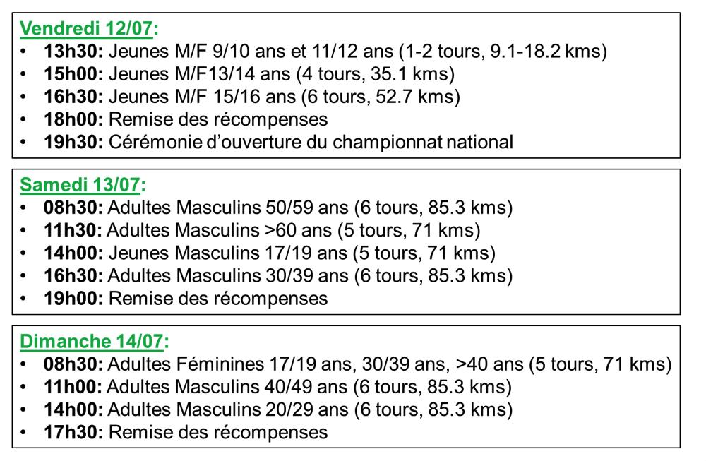 4 engagés Euréliens au National UFOLEP de Beaumont de Lomagne (82) du 12 au 14 juillet 2019