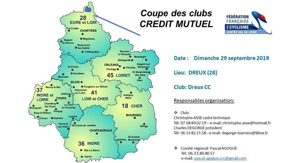 Le dossier complet de la coupe des clubs du dimanche 29 septembre 2019 à Dreux (28)