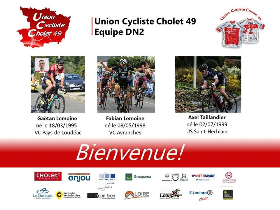 Source photos : compte Facebook Union Cycliste Cholet 49