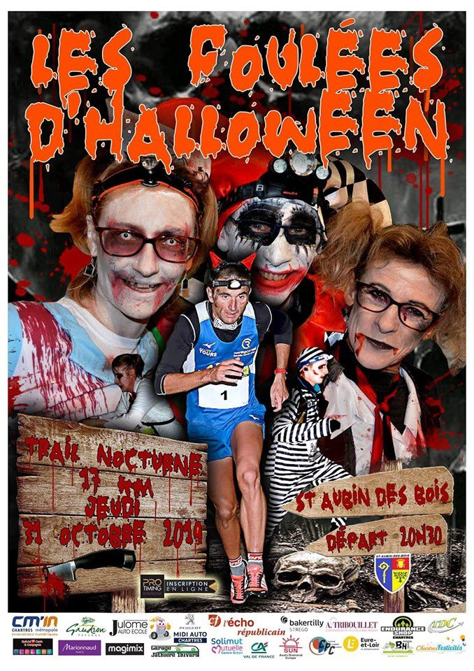 Les Foulées d'Halloween du 31 octobre 2019 à Saint Aubin des Bois (28) : dernière ligne droite pour s'engager