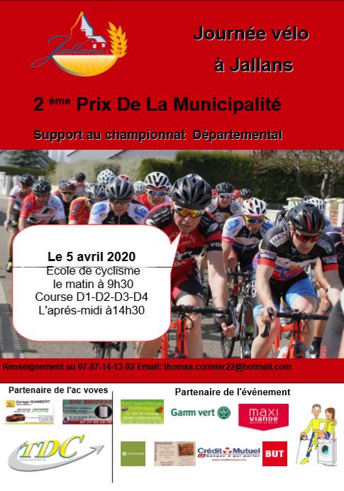 L'affiche des courses de Jallans (28) du 5 avril 2020