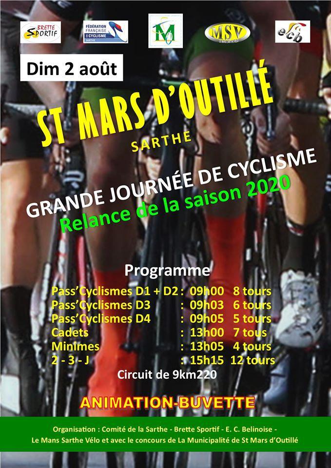 Courses de St Mars d'Outillé (72) le dimanche 2 août 2020