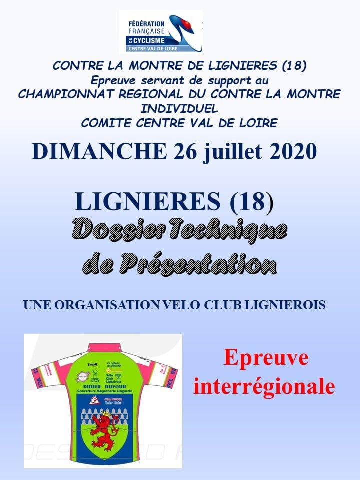Le dossier complet du championnat régional de contre la montre du dimanche 26 juillet à Lignières (18)