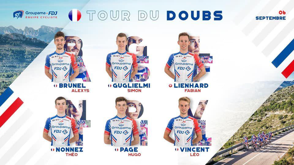 Le Tour du Doubs le dimanche 6 septembe avec Hugo Page (Groupama FDJ)
