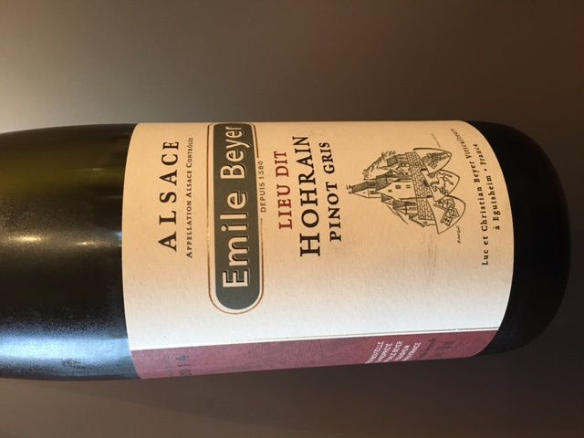 Alsace pinot gris Hohrain 2014 Emile Beyer