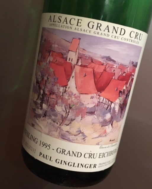 Alsace grand cru Eichberg riesling 1995 Domaine Paul Ginglinger
