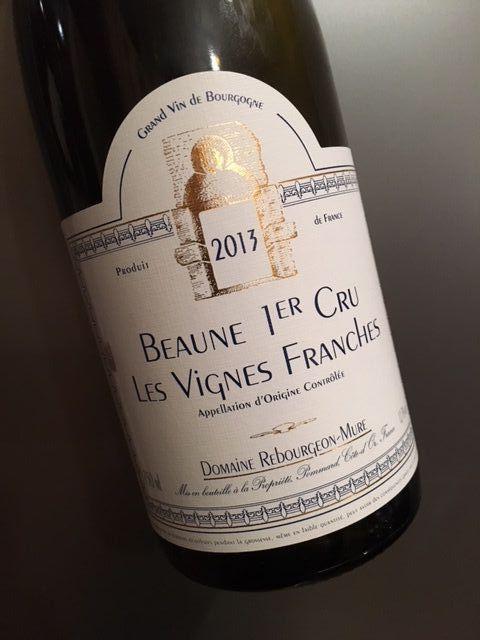 Beaune 1er Les vignes franches 2013 Rebourgeon-Mure