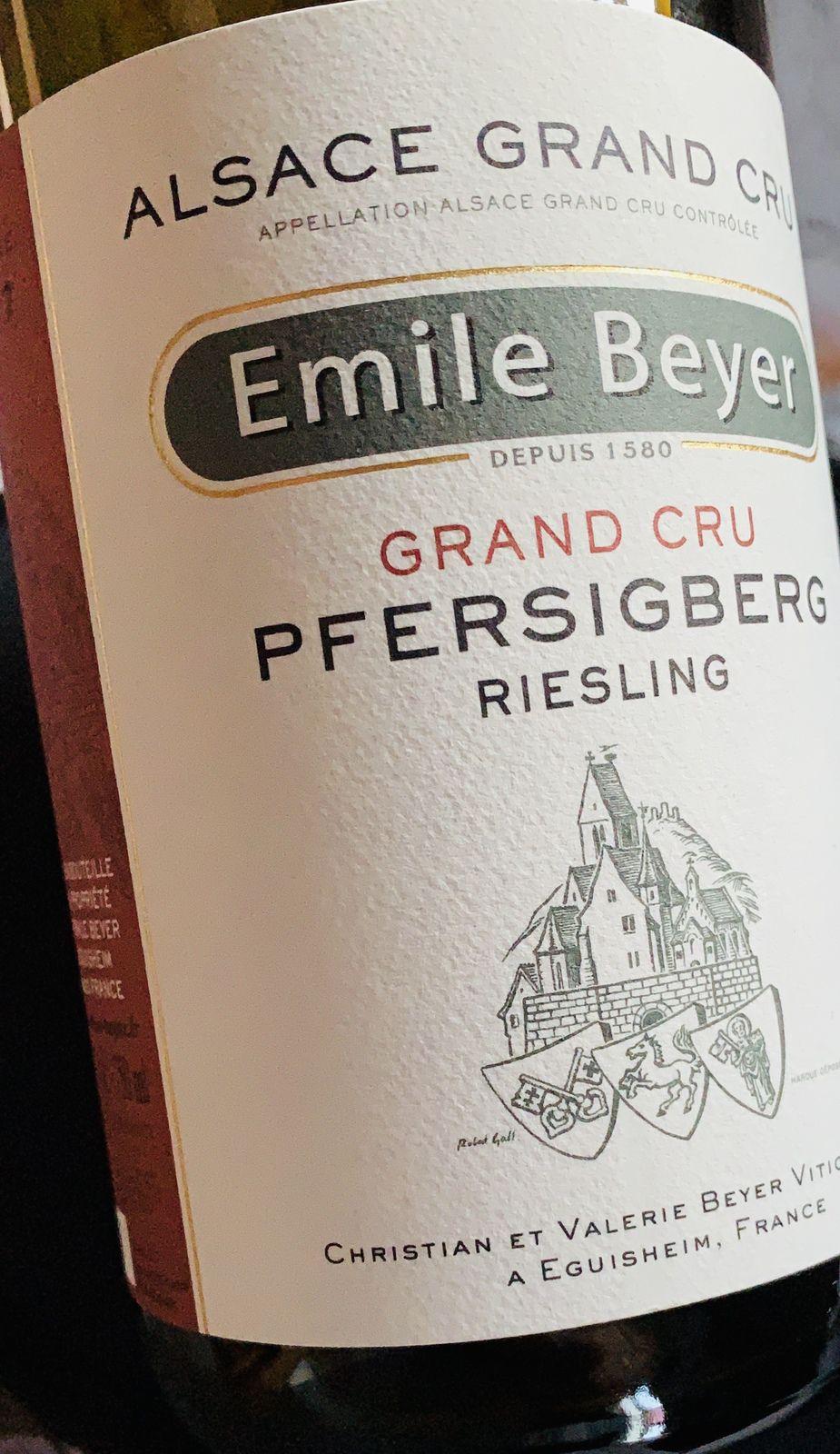 Alsace Grand Cru Pfersigberg riesling 2017 Émile Beyer