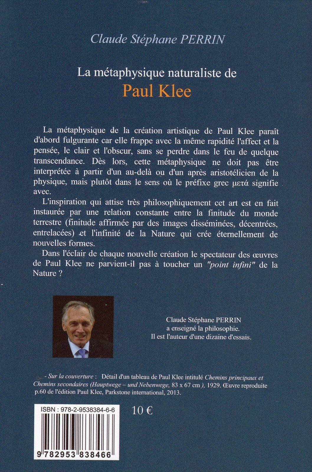 La métaphysique naturaliste de Paul Klee