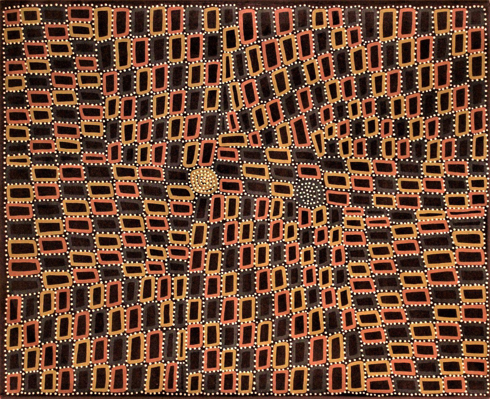 Peinture aborigène du désert