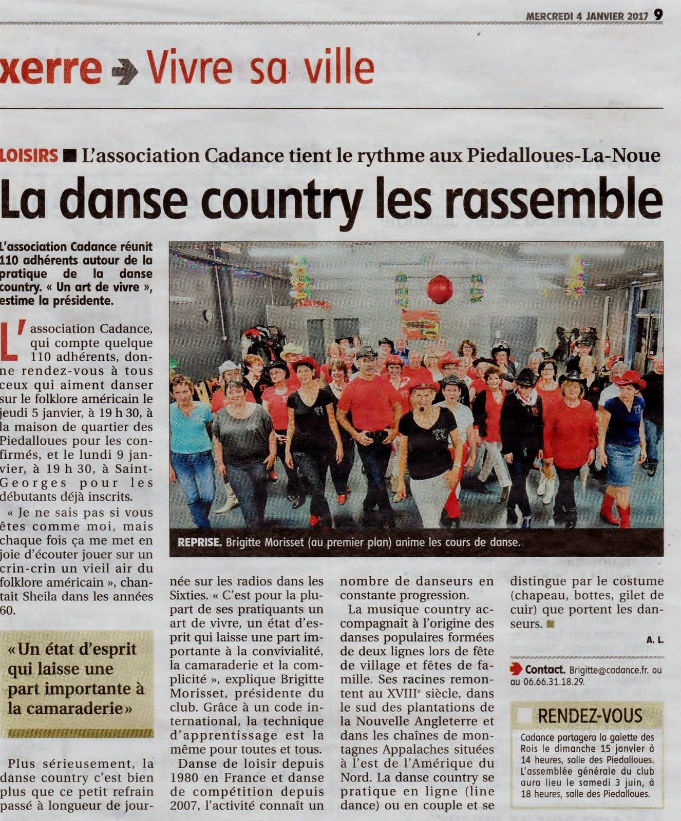 Article de l'YONNE REPUBLICAINE