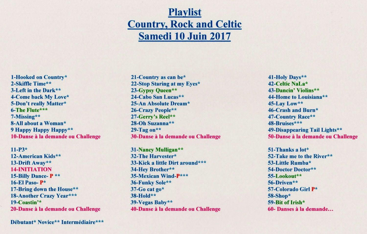 PLAYLISTS SULLY 10 JUIN