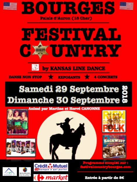 FESTIVAL COUNTRY BOURGES 29 SEPTEMBRE 2018