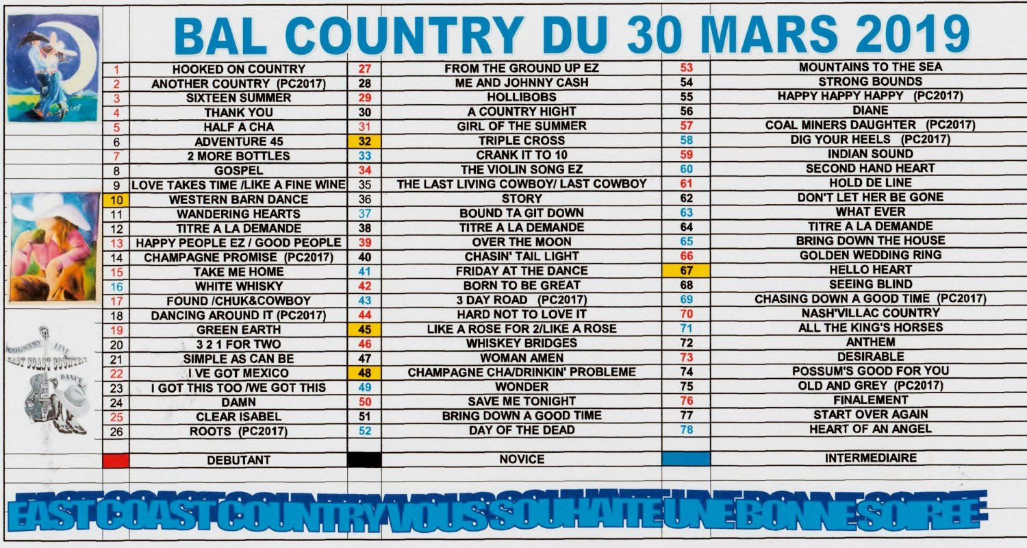 PLAYLIST CANNES ECLUSE 30 MARS