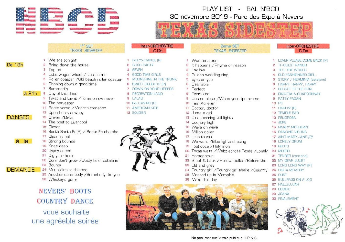 PLAYLIST NEVERS 30 NOVEMBRE